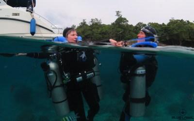 CCR diving flat seas