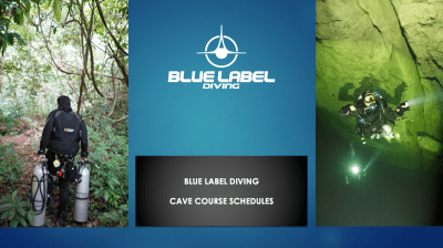 cave diving schedule