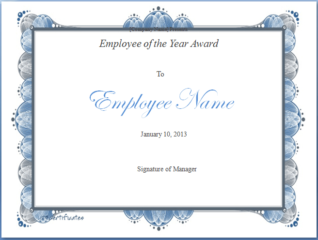 Employee of the Year Award Template | Free Layout & Format