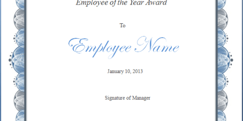 Employee of the Year Award Template