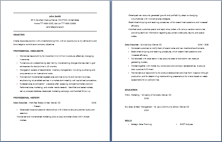 Really Good Resume Format. Why This Is An Excellent Resume