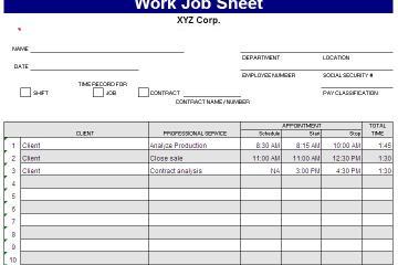 job assignment template