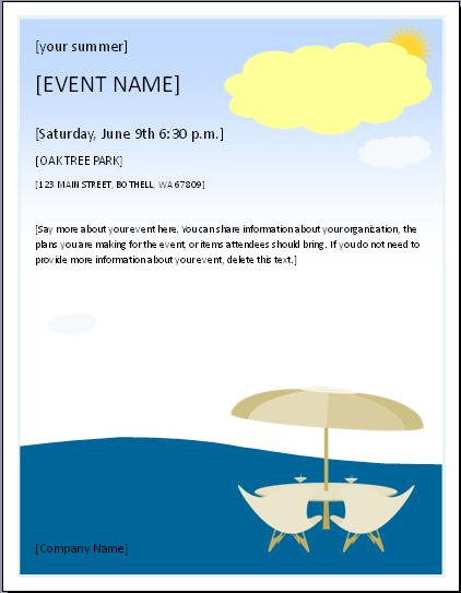 Picnic Party Invitation Template  Free Layout  Format