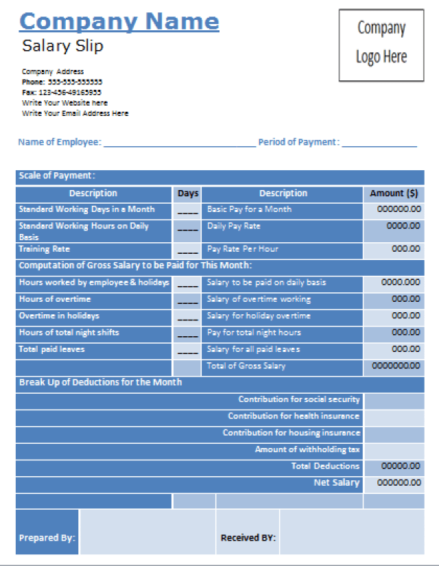 Wage Slip Template Excel pin payslip on pinterest pay slip – Download Payslips