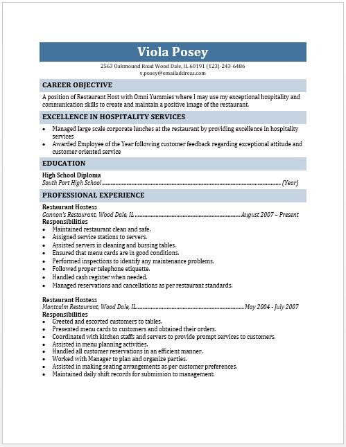 host resume resume cv cover letter