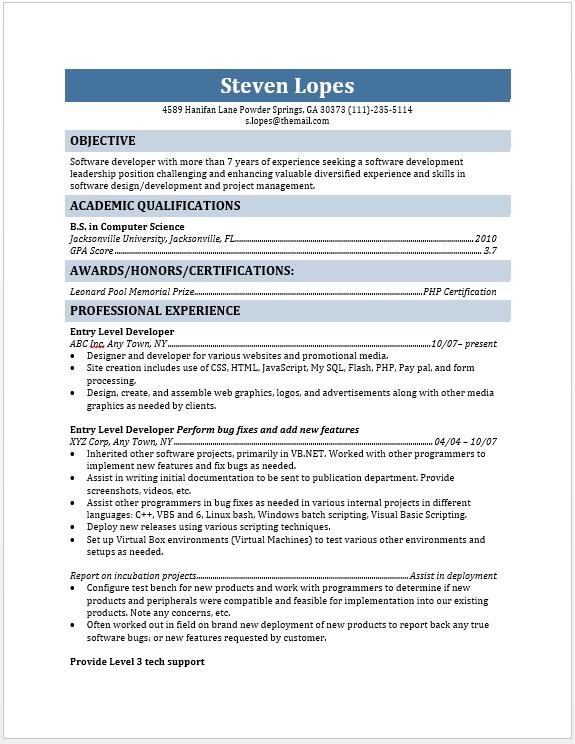 Resume World - Professional Resume Service, #1 Resume.