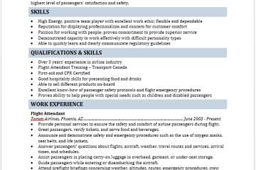 flight attendant resume