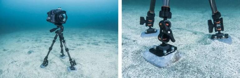Tripod stabilization sea