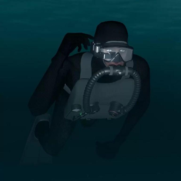 Shadow NAV wyświetlacz do maski dla nurków bojowych