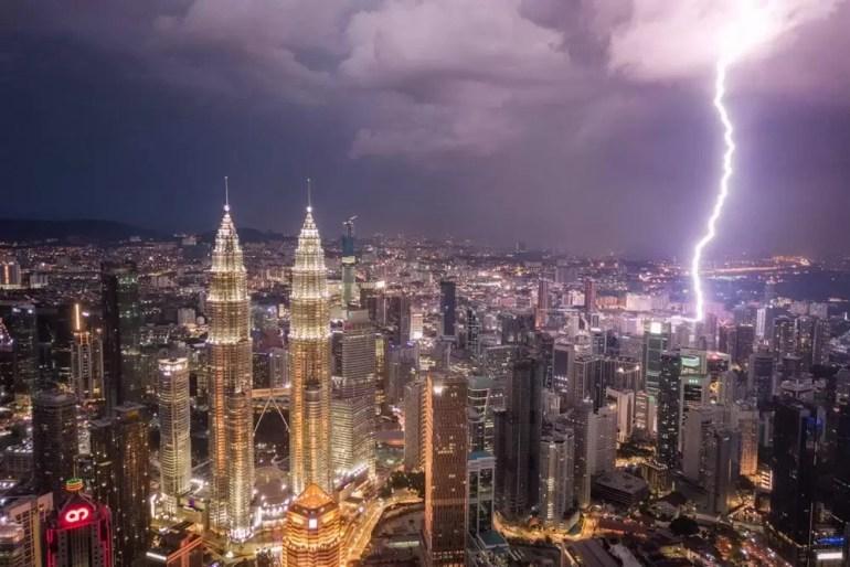 Błyskawica nad Kuala Lumpur