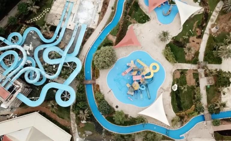 Opuszczony park wodny w Dubaju fot.: Dronestagram / dxbdrone