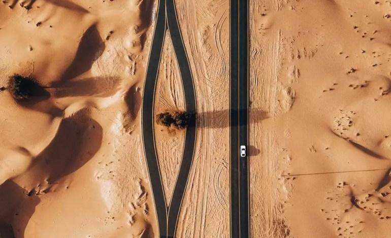 Pustynia Al Qudra, Zjednoczone Emiraty Arabskie  Fot.: Dronestagram/whosane