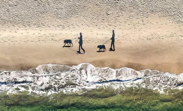 Cienie spacerujące po plaży, fot.: Q-lieb