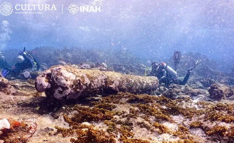 Wrak Manuel Polanco,  kotwica odnaleziona przez archeologów