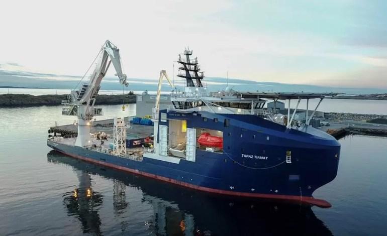 Statek badawczy Topaz Tiamat,Kredyt: MMT / Reach subsea