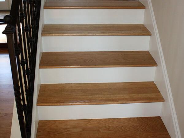 Hardwood Floor Stair Inlays San Mateo Ca Wood Stair | Installing Hardwood On Stairs | Wooden | Painted Wood | Handrail | Nosing | Vinyl