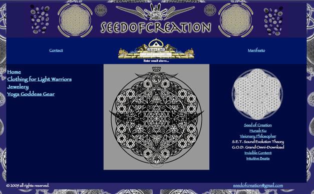 Seed of Creation Web Design