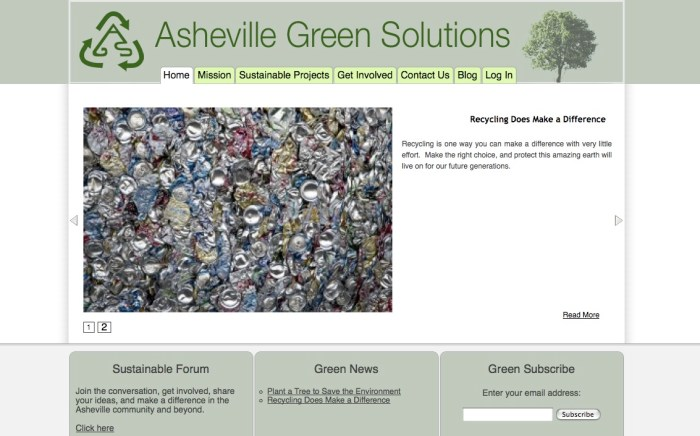 Asheville Custom WordPress Theme