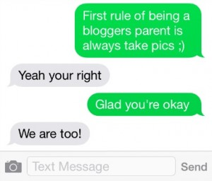 First Rule for Parents of Bloggers