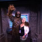 Laura Elle with Chewbacca