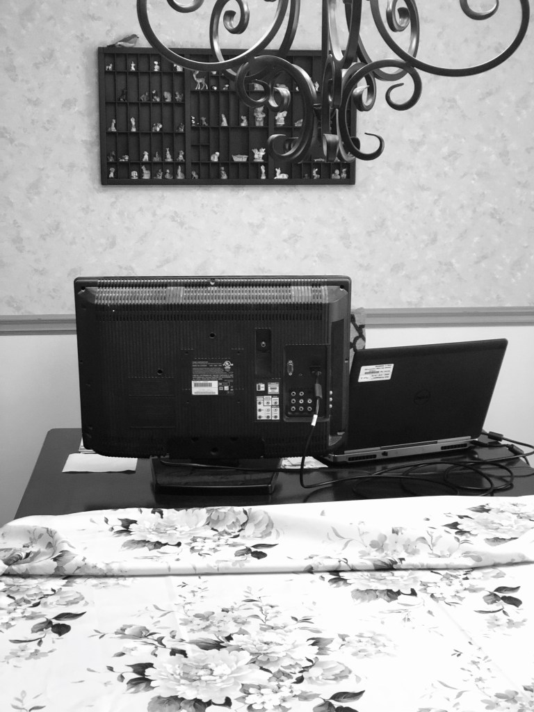 Picture contains  laptop and monitor on a table