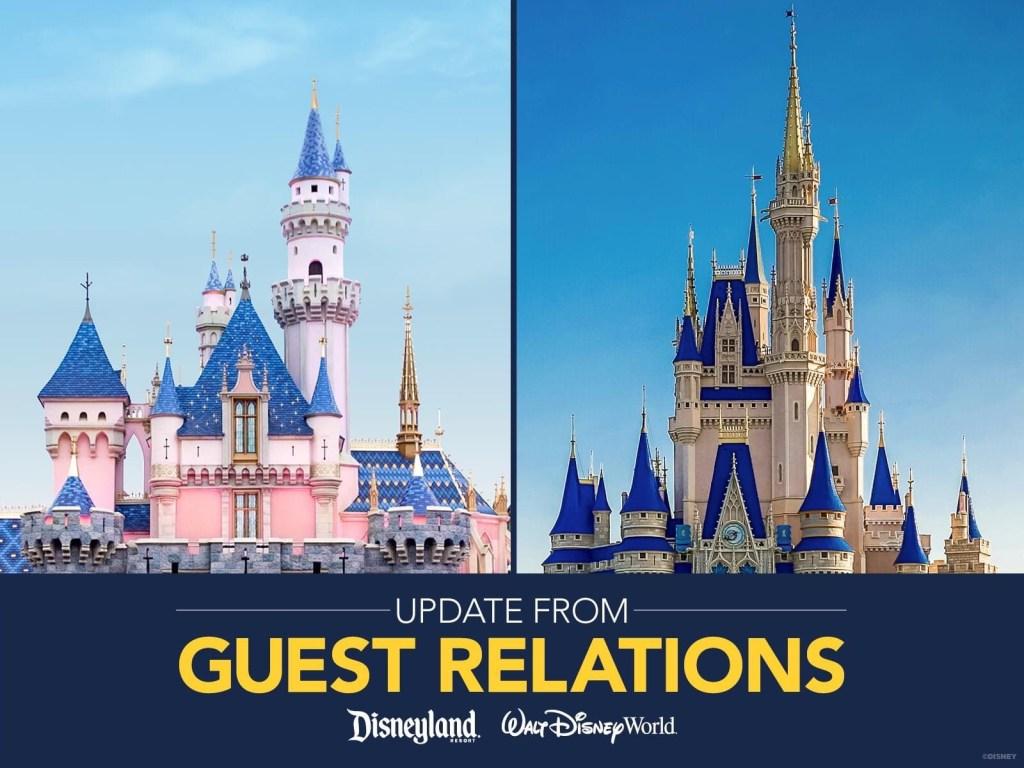 Disney World and Disneyland Resorts castles