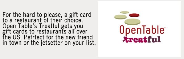 OpenTable Gift Cards