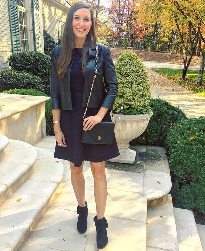 Tweed & Leather Holiday from day to night outfit | Blue Mountain Belle