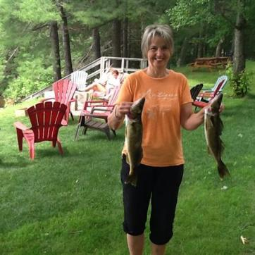 Marlene fishing