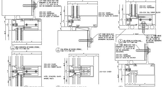 technal curtain walling cad details