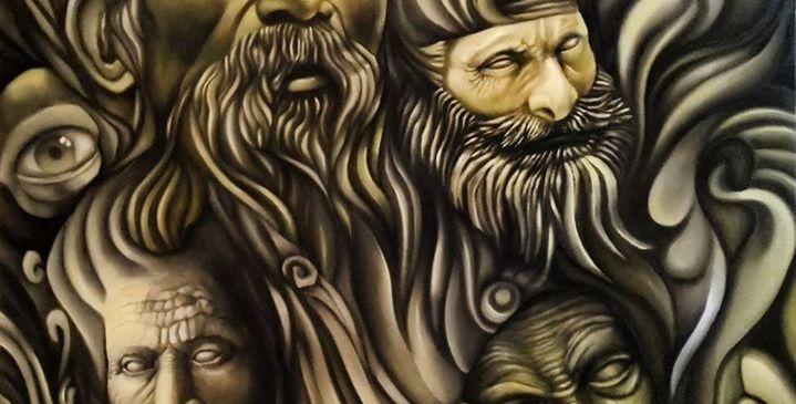 Pintura a óleo sobre tela