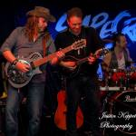 Guitarist Ashley Naylor, vocalist Gary Young, drummer Nigel Davis for Scarecrow - The John Mellencamp tribute show from Melbourne