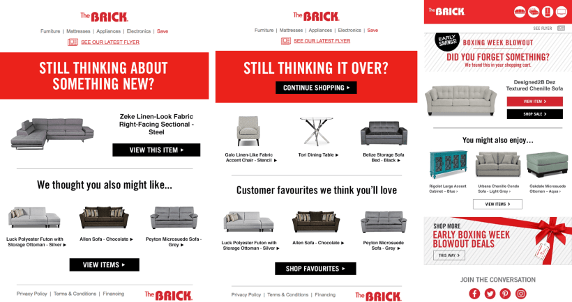 Trigger Email Examples