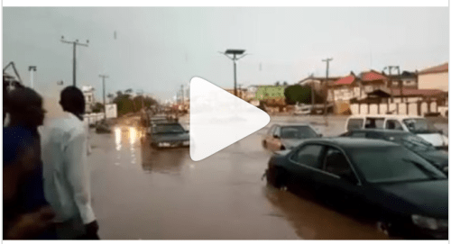 VIDEO: Watch as flood takes over Offa in Kwara state