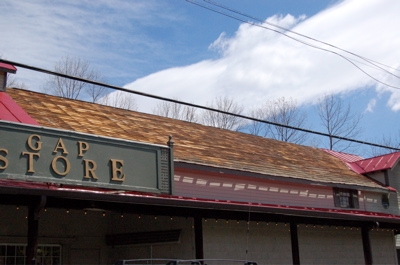 Rockfish Gap Country Store roof damage