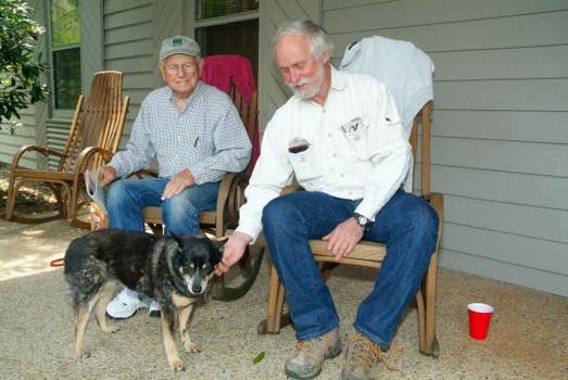 Doug takes a break on the porch