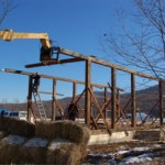 Beech Grove : Old Arrington Train Depot Being Reassembled : The Village @ Glen Mary