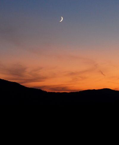 strober moon sunset
