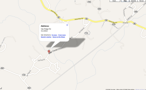 Googel Map Of The Accident Location In Eastern Nelson County, Virgnia