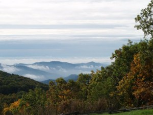 By Anne Marie Jones, Wintergreen Resort : Fall Skies Over Wintergreen, Virginia