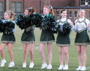 Photos By Paul Purpura:  NCHS Govs Cheerleaders Fire Up The Crowd At Friday Night's Home Game Against Gretna
