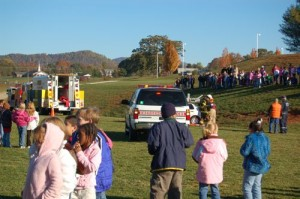 The morning long demonstration gives school students a complete feel for what emergency workers do in their daily careers.