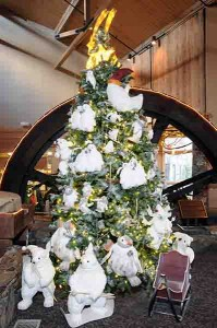 Photo By Paul Purpura : The annual Festival Of Trees is getting into swing at Wintergreen.