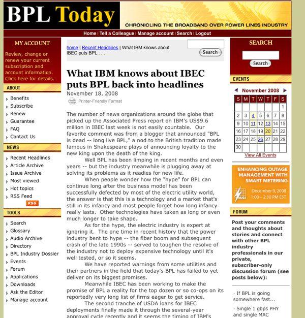 IBEC Updates NCL & Discusses IBM Relationship | Blue Ridge