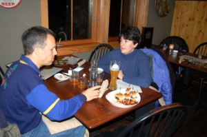 Orquida and Dan Ingraham of Afton Mountain B & B get their chance at the local brews!