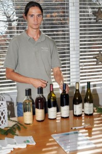 Robbie Corpora of Afton Mountain Vineyards, represents one of several area Nelson wineries on hand.