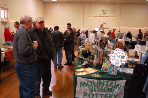 The Community Market has become a popular gathering place for people on the first Saturday of the month during the winter.