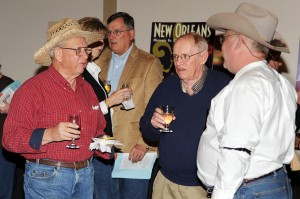 Before the Casino Night began, folks had a pre-party roundup at Pryor's Porch complete with wine, appetizers, and a live auction.
