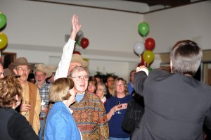 The hands were going up as fast as they could during the live auction!