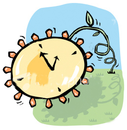 Daylight Saving Time begins at 2 AM Sunday morning, so be sure to set your clock ahead 1 hour at bedtime Saturday night.